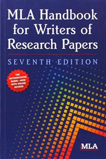 9781603290241-1603290249-MLA Handbook for Writers of Research Papers, 7th Edition