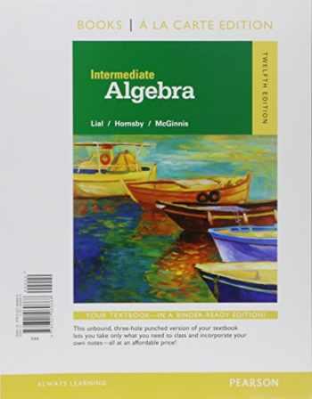 9780134197371-0134197372-Intermediate Algebra, Books a la Carte Edition, Plus Mylab Math -- Access Card Package