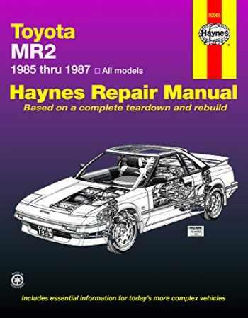 9781850103394-1850103399-Toyota MR2 (85-87) Haynes Repair Manual