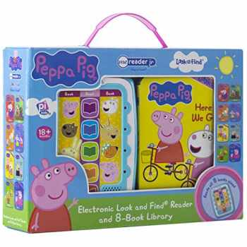 9781503749986-1503749983-Peppa Pig - Electronic Me Reader Jr and 8 Look and Find Sound Book Library - PI Kids