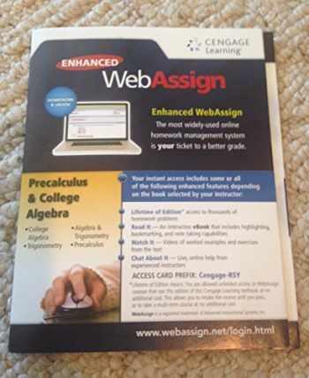 9781285858333-1285858336-Enhanced Web Assign Precalculus and College Algebra