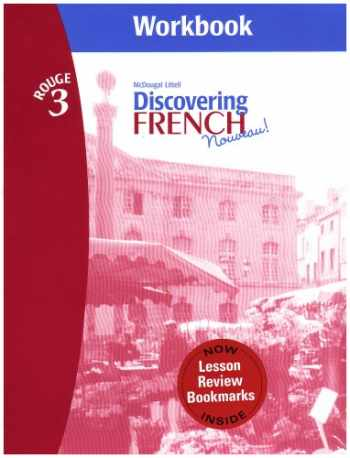 9780618661770-0618661778-Discovering French, Nouveau!: Workbook with Lesson Review Bookmarks Level 3