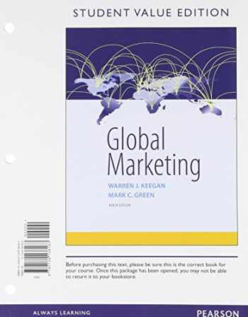 9780134138183-013413818X-Global Marketing, Student Value Edition