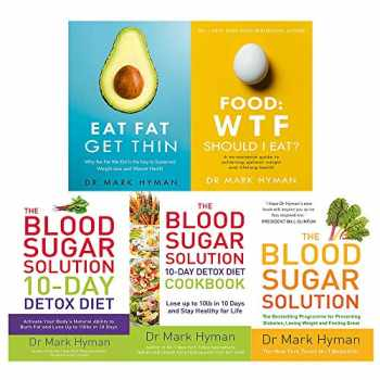 9789123820764-9123820764-Mark Hyman 5 Books Collection Set (The Blood Sugar Solution 10-Day Detox Diet, The Blood Sugar Solution, The Blood Sugar Solution Cookbook, Eat Fat Get Thin, Food: WTF Should I Eat?)