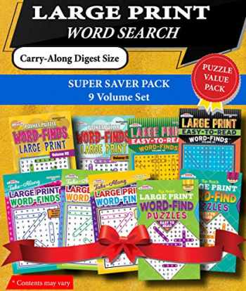 9781559930086-155993008X-KAPPA Super Saver LARGE PRINT Word Search Puzzle Pack-Set of 9 Carry-Along Digest Size Books