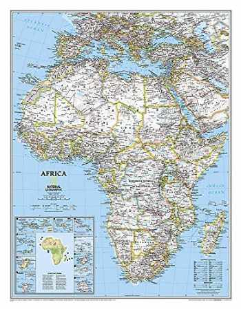 9780792281030-0792281039-National Geographic: Africa Classic Wall Map (24 x 30.75 inches) (National Geographic Reference Map)