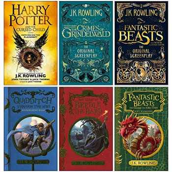 9789123963461-9123963468-J.K. Rowling Collection 6 Books Set (Harry Potter and the Cursed Child Parts One and Two, Fantastic Beasts The Crimes of Grindelwald,The Original Screenplay,Quidditch Through the Ages and more)