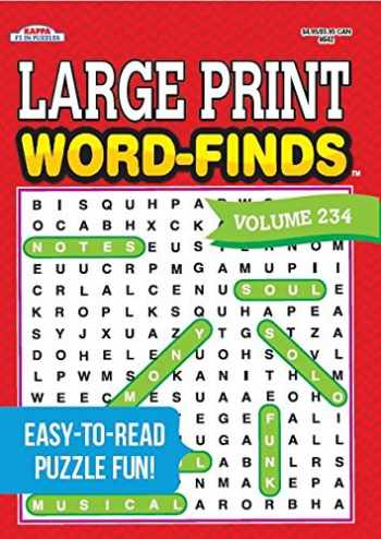9781559931977-1559931973-Large Print Word-Finds Puzzle Book - Volume 234