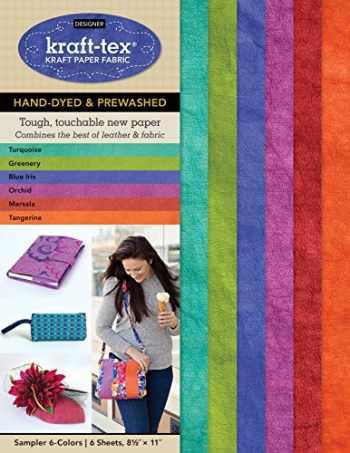 "9781617457548-161745754X-kraft-tex Sampler 6-Colors Hand-Dyed & Prewashed: Kraft Paper Fabric, 6-Sheets 8.5"" x 11"" (kraft-tex Designer)"