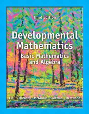 9780321854469-0321854462-Developmental Mathematics: Basic Mathematics and Algebra (3rd Edition)
