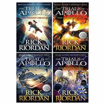 9789526539614-9526539613-Rick Riordan Trials of Apollo Collection 4 Books Set (Dark Prophecy, Hidden Oracle, Burning Maze, The Tyrants Tomb [Hardcover])