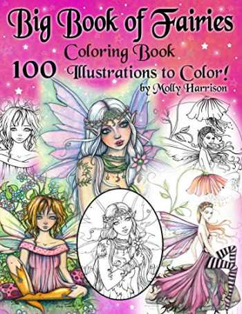 9781709500152-1709500158-Big Book of Fairies Coloring Book - 100 Pages of Flower Fairies, Celestial Fairies, and Fairies with their Companions: 100 Line Art Illustrations to ... from prior books compiled into one BIG BOOK!