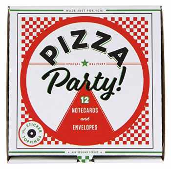 9781452154824-1452154821-Pizza Party! 12 Notecards & Envelopes (Pizza Themed Greeting Cards, Stationery Gift for Pizza Lover)