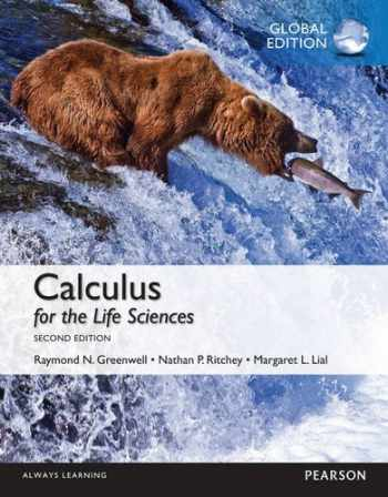 9781292072050-1292072059-Calculus for the Life Sciences with MyMathLab, Global Edition