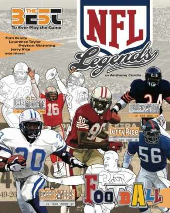 9781973888383-1973888386-NFL Legends: The Ultimate Coloring, Activity and Stats Football Book for Adults and Kids (35 BEST BIOGRAPHY) (Volume 2)