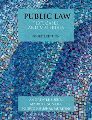 9780198820284-0198820283-Public Law: Text, Cases, and Materials