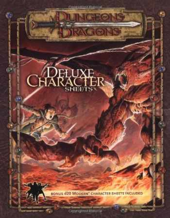 9780786934218-0786934212-Dungeons & Dragons Accessory: Deluxe Character Sheets  (D&D Accessory)