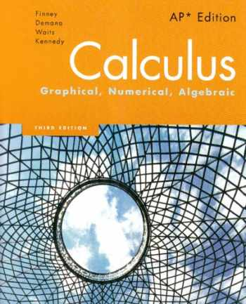 9780132014083-0132014084-Calculus: Graphical, Numerical, Algebraic, 3rd Edition