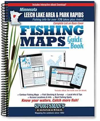 9781885010278-1885010273-Northern Minnesota - Leech Lake Area & Park Rapids Area Fishing Map Guide (Fishing Maps Guide Book)