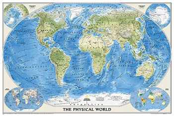 9780792250012-079225001X-National Geographic: World Physical Enlarged Wall Map - Laminated (69.25 x 46.25 inches) (National Geographic Reference Map)