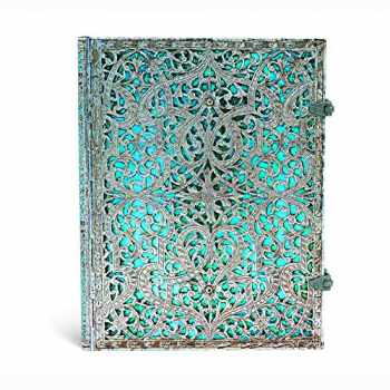9781439725603-1439725608-Maya Blue Journal: Lined Ultra (Silver Filigree Collection)