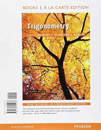 9780134315133-0134315138-Trigonometry, Books a la Carte Edition (11th Edition)