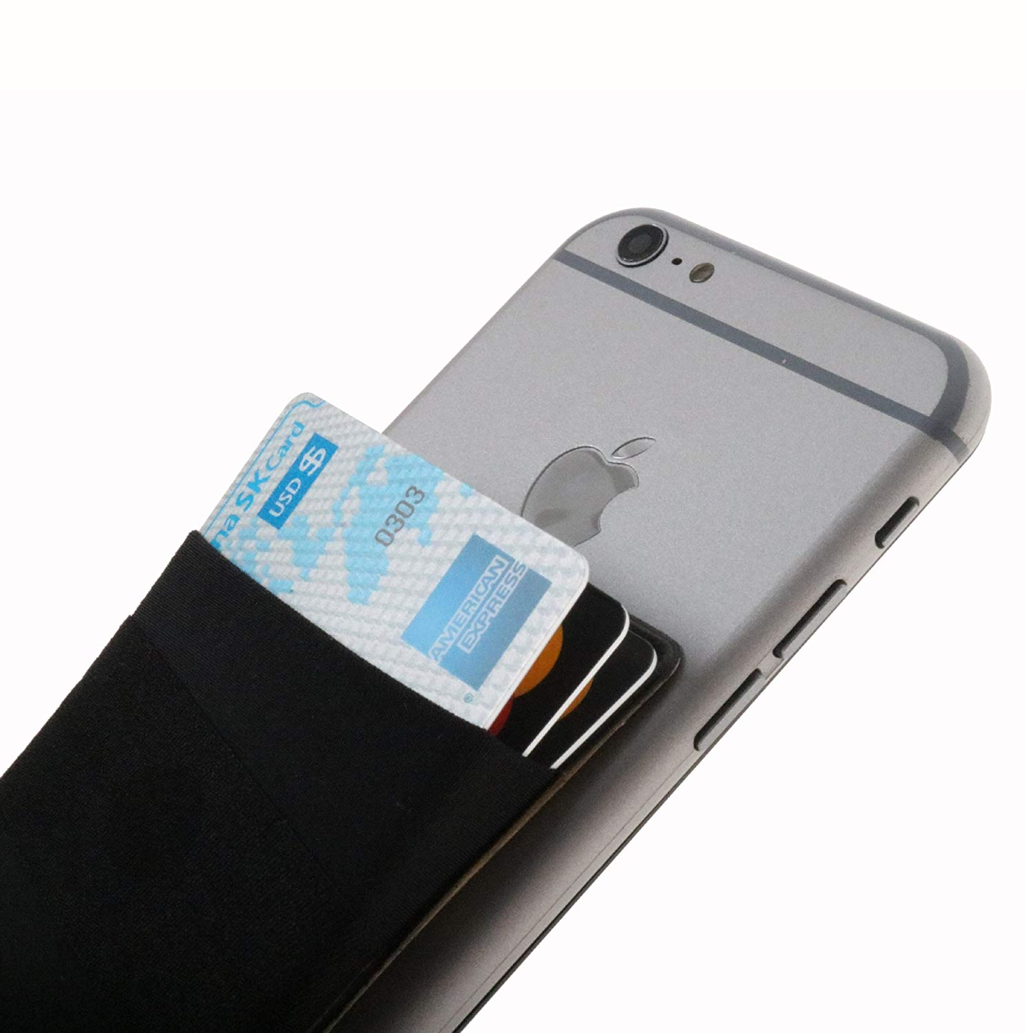 Card holder for back of phone